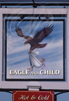 "ENSEIGNE : ""Eagle and Child""  (Aigle et Enfant)"