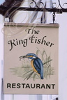 "ENSEIGNE : ""THE KING FISHER""  (Le Martin Pêcheur)"