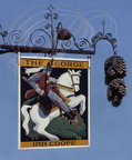 "EXTON (Hampshire) - Enseigne : ""THE GEORGE"" (Saint Georges et le dragon)"