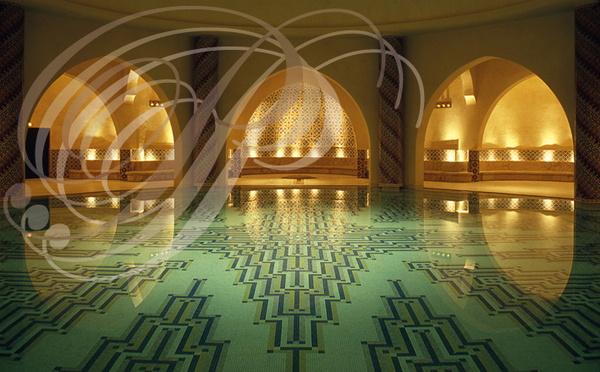 Mosqu e hassan ii 6 le sous sol la piscine du hammam for Mosquee hassan 2 interieur